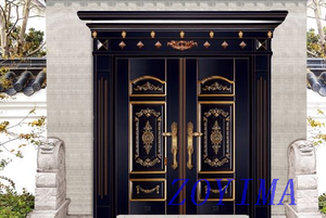 Z0YIMA/ G & K Great Door - Metal Entrance Seucrity Door Black Copper Color ZYM-M2050