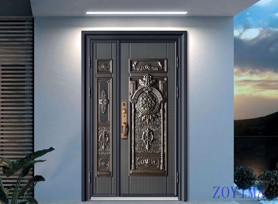 Z0YIMA/ G & K Great Door -Nigeria Luxry Competitive Glavanized 1.2MM4feet Door ZYM-N8069