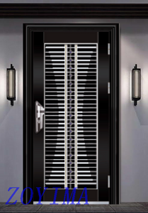 Z0YIMA/ G & K Great Door - Toughened Wrought Stainless Steel Glasses Black Color Doors ZYM-S103