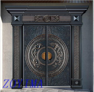 Z0YIMA/ G & K Great Door - Cast Imitation Copper Security Steel Doors ZYM-K8070