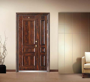 What materials are commonly used at the entrance door?