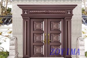 Z0YIMA/ G & K Great Door -Seucrity Door Dark Wood Sunshine-proof Color ZYM-M2009