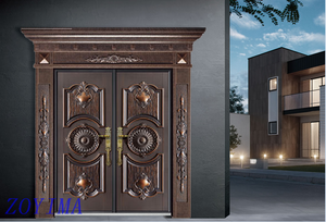Z0YIMA/ G & K Great Door -Luxry Competitive Glavanized Exterior Cast Aluminum Door ZYM-K8035