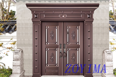 Z0YIMA/ G & K Great Door - Exterior Entrance Entry Aluminum Fitting ajoint Door ZYM-P3-4008