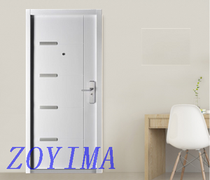 Z0YIMA/ G & K Great Door-Security Steel Door FD-E101 Simple White Color
